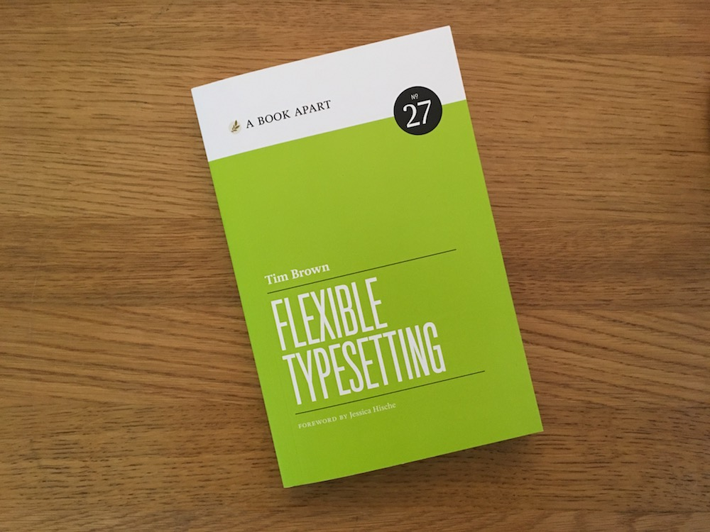 Photo of physical Flexible Typesetting book on a table